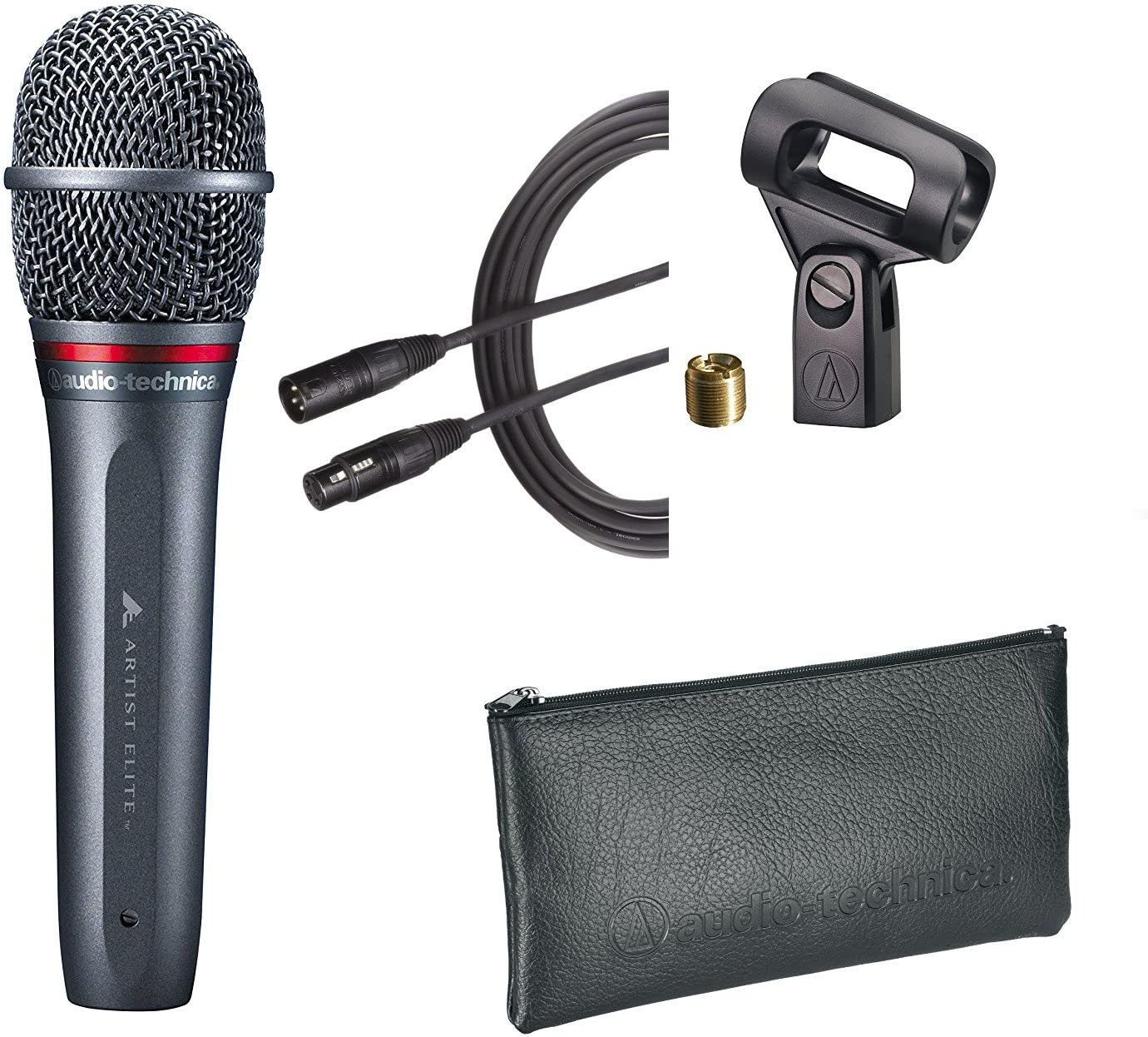 Audio Technica National uniform free shipping AE6100 Vocal Dynamic Mic Pouch Max 68% OFF Clip with AT