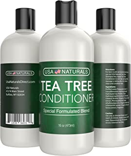 Tea Tree Oil Hair Conditioner Sulfate Free: Revitalize Damaged Hair, Restore Shine and Promote Thickness with Naturally-Sourced Ingredients–Tea Tree Oil, Organic Argan Oil, Organic Chamomile