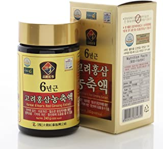 100% Pure Korean 6years Root Red Ginseng Extract, 240g(8.5oz) X 2ea, Saponin, Panax