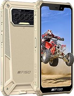 OUKITEL F150 simフリースマホ本体 8000mAh大容量バッテリースマートフォン 64GB+6GB(256GBまで対応可能 5.86インチ 防水スマホ Andriod10 顔認証 指紋認識 技適認証済み 1 付き(黄)