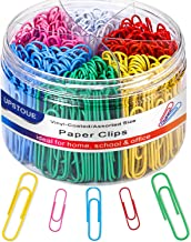 Paper Clips, Medium and Jumbo Paper Clips, Durable and Rustproof, Coated Large Paper Clips Great for Office School Documen...