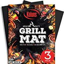Kaluns Grill Mat, Best BBQ Mat - Heat Resistant up to 600 Degree - Nonstick, Reusable, Dishwasher Safe, Set of 3
