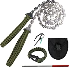 BLIKA 36 Inches 24 Teeth Pocket Chainsaw with Paracord Handle, Folding Hand Saw Tool for Camping, Hunting, Backpacking, Me...