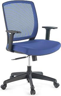 ofiprix | Silla Nicole | Silla de Oficina Giratoria | Silla Escritorio | Respaldo Transpirable | Brazos Ajustables | Ergonómica | Color Azul