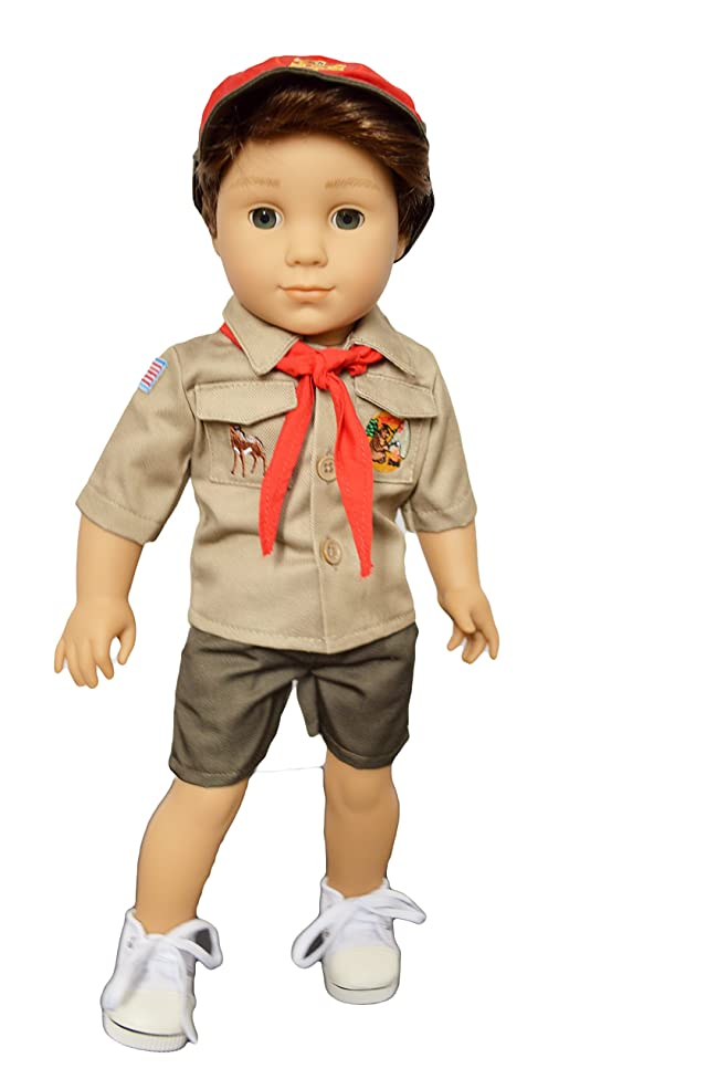 Brittany's My Scouts Uniform with Embroidered Patches Compatible with American Girl Boy Dolls- 18 Inch Boy Doll Clothes
