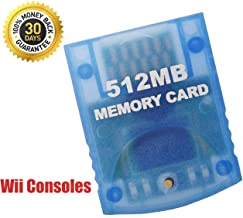 512MB Memory Card Compatible for Wii Gamecube, Memory Card for Nintendo Gamecube & Wii Consoles