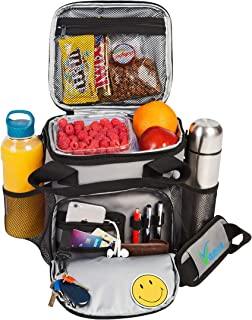 Vapos Insulated Lunch Bag for Men and Women with Plenty of Room for More Meals and Snacks. Keeps Hot/Cold for 8h. Large Lunch Box for Adults with More Pockets. Perfect for Work Lunches and More