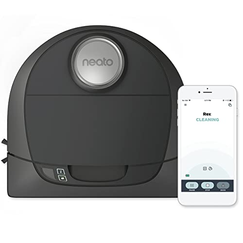 Neato Botvac D5 Connected Laser Guided Robot Vacuum, Pet & Allergy, Works with Smartphones