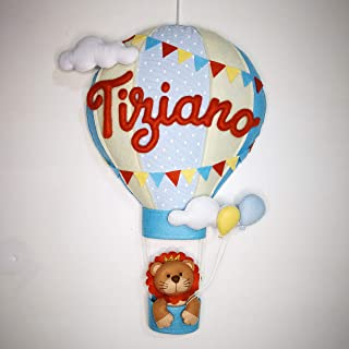 Fiocco nascita mongolfiera bimbo personalizzabile, pannolenci, regalo nascita, dolce attesa, regali per bimbo e bimba, neo...