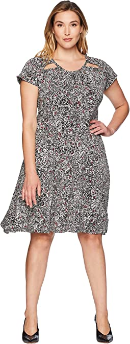 Plus Size Boho Block Print Dress