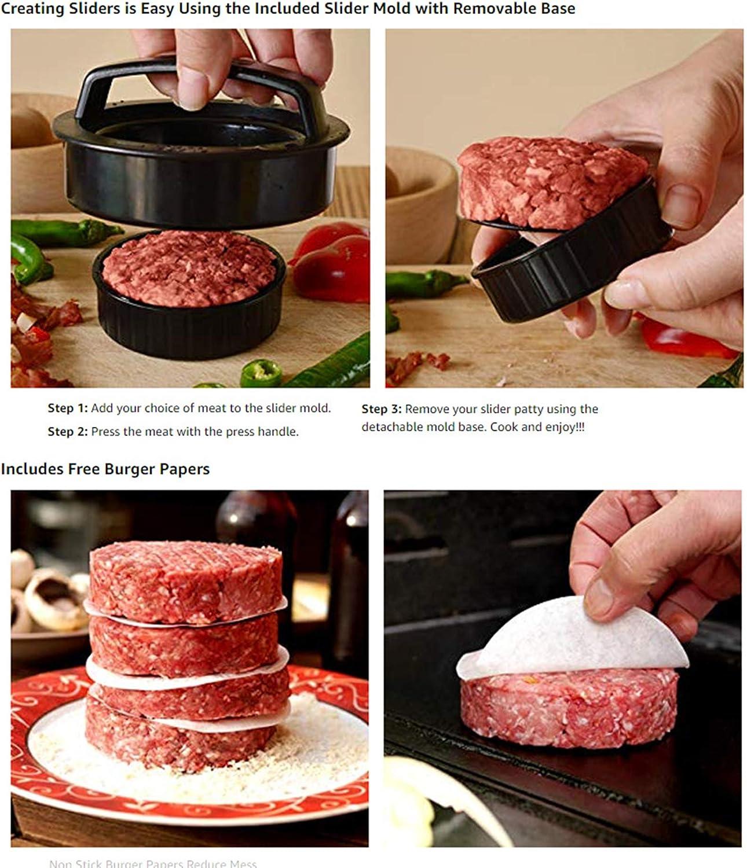 alpha-ene.co.jp Hamburger Press Patty Maker Black Stuffed Burger ...