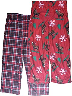 Up-Late Moose Fleece Pajamas Size 4