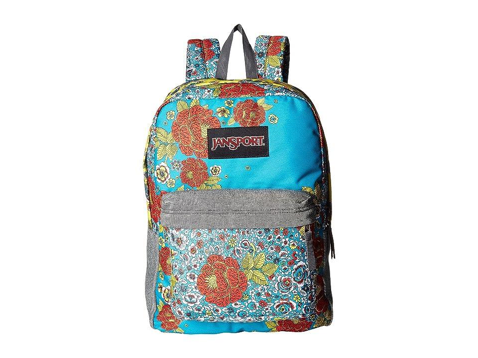 JanSport Super FX (Multi Patchwork Posey) Backpack Bags