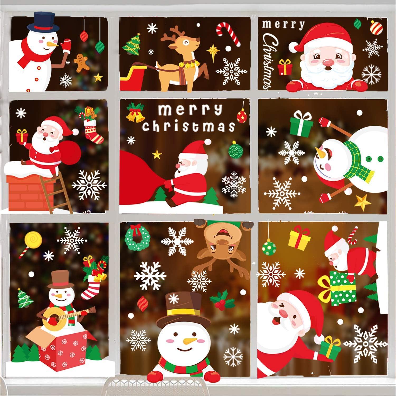486 PCS Christmas Super sale Dallas Mall period limited Window Decals Clings Decorati