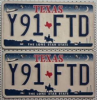 USA_Auswahl_von_Fahrzeugschildern // Texas Fahrzeug   Kennzeichen Paar // 2 Original Autoschilder aus den USA // Metall Schilder // US License Plates Pair