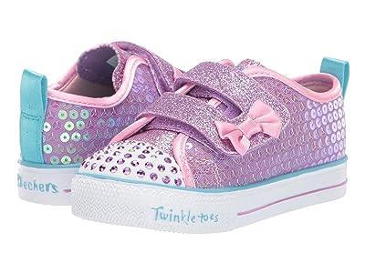 SKECHERS KIDS Twinkle Toes Shuffle Lite Mini Mermaid 20063N (Toddler/Little Kid) (Lavendar/Multi) Girl