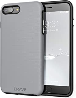 iPhone 8 Plus Case, iPhone 7 Plus Case, Crave Dual Guard Protection Series Case for Apple iPhone 8/7 Plus (5.5 Inch) - Slate