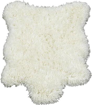 Silk Road Concepts High Pile Fluffy Sheepskin Rug, 2' x 3', White
