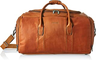"Kenneth Cole Reaction Duff Guy Colombian Leather 20"" Single Compartment Top Load Travel Duffel Bag, Cognac"