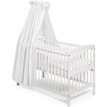 Koko Babybett Gitterbett Beistellbett Julia 120x60 Cm Weiss Amazon De Baby