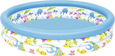 Bestway BW51009 48 x 10 Inch Ocean Life Kids Paddling Pool, Multi-Coloured