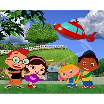 Marvelous Amazon Com Little Einsteins On Hill Edible Cake Topper Frosting 1 Funny Birthday Cards Online Alyptdamsfinfo