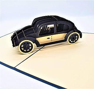 BC Worldwide Ltd carta pop-up 3D fatta a mano auto nera compleanno anniversario di matrimonio San Valentino festa del papà...