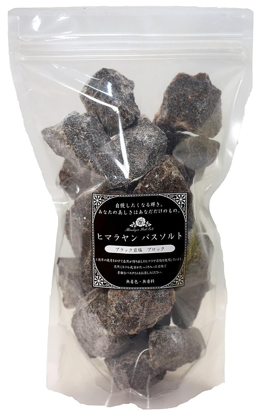 資本分子パンチヒマラヤンバスソルト 岩塩ブラック ブロック 1.2㎏