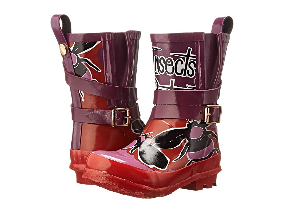 Burberry Kids Holloway Rainboot (Toddler/Little Kid) (Cherry Pink) Girls Shoes