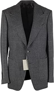 CL - Tom Ford Shelton Checked Gray Sport Coat Size 48 / 38R U.S. in Wool Alpaca Cashmere