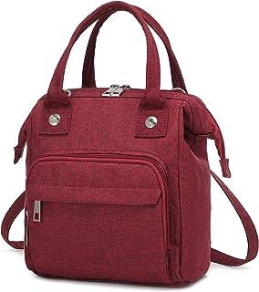 LOVEVOOK Tasche Klein Canvas Umhängetasche Damen Handtasche Klein Crossbody Tasche Messenger Bag Schultertasche 3 in 1 ruc...