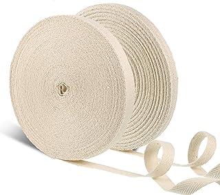 Cinta de algodón suave gruesa correa de cincha de espesor blanco natural crudo Confección