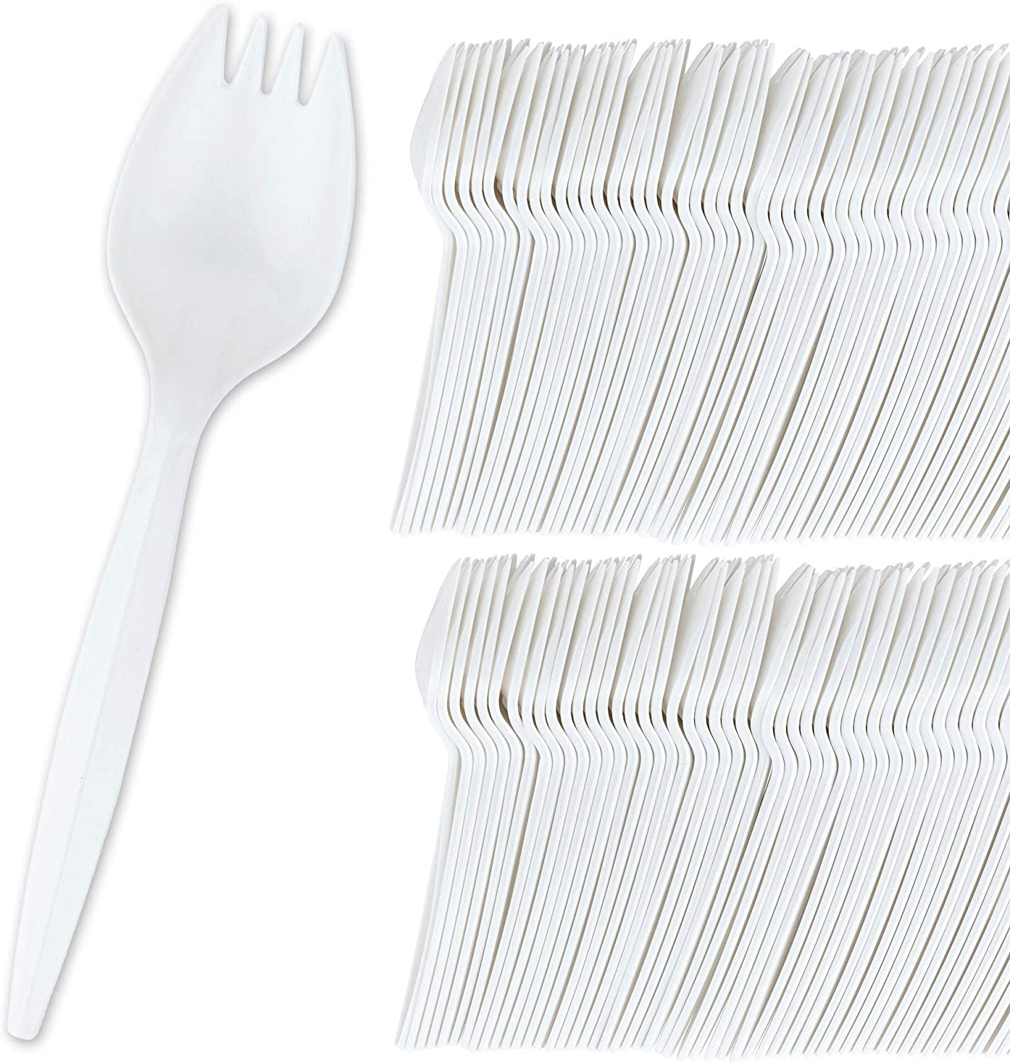 Stock Your Home Many popular brands 100 Disposable White Plastic †Selling Sporks
