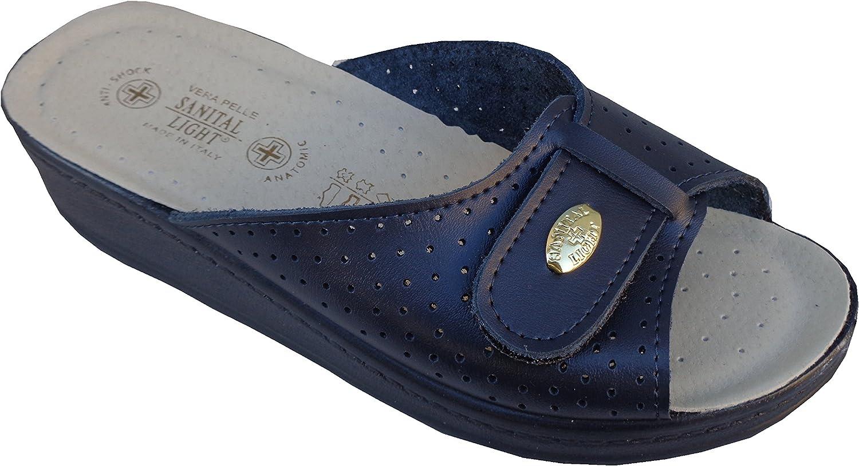 Schuhe Sanital Light Herren Hausschuhe von Herren Braunes Leder Abgedeckt 753MA