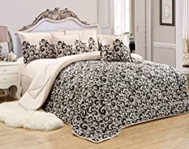 Paisley Comforter Set By Moon- 4 Pieces, Single Size, No.10, Multi Color, Mixed Material