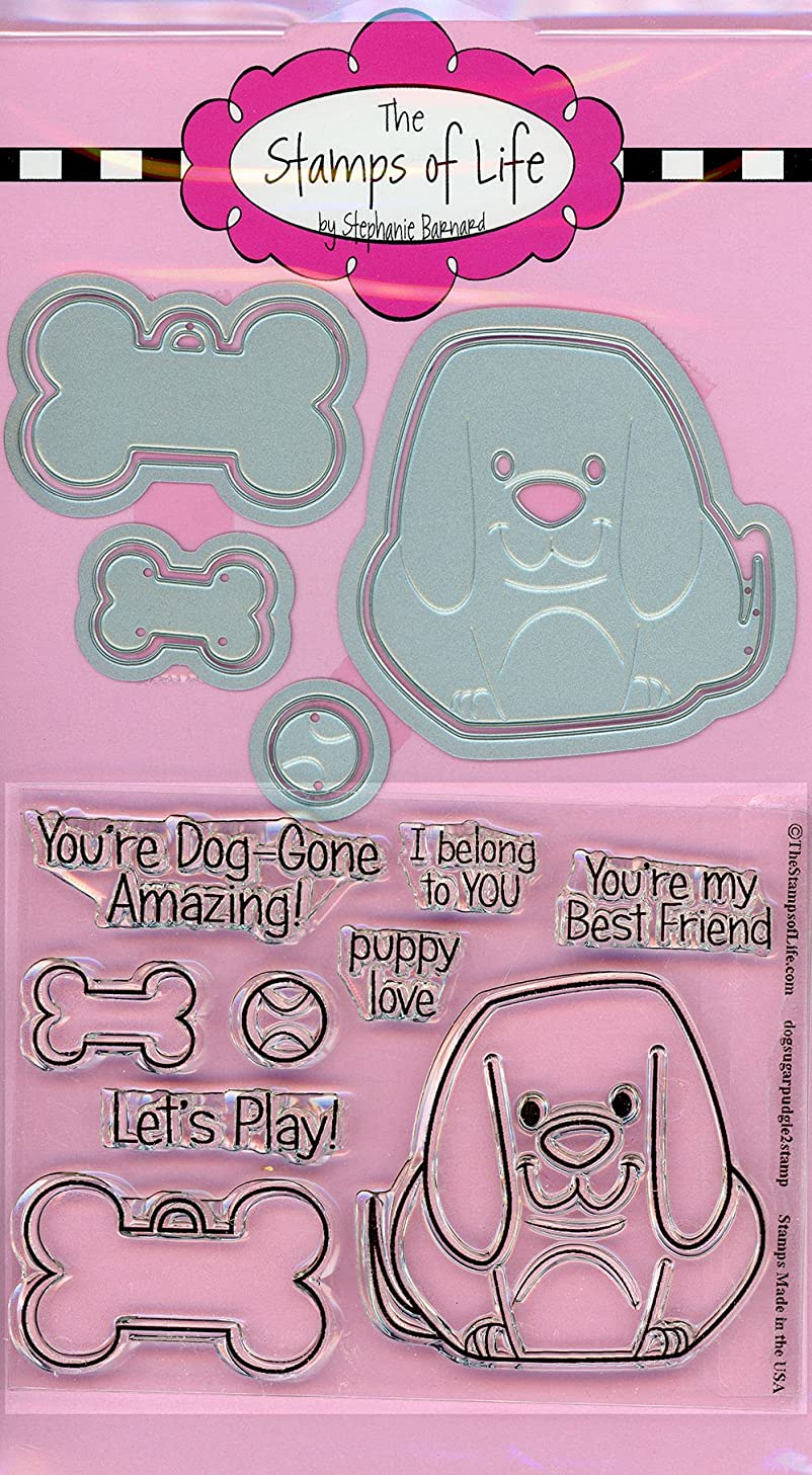 The Stamps of Life Pet Dog Stamp and Die Combo Pack for Card Making by Stephanie Barnard