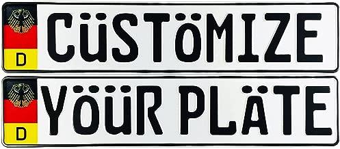 Custom German License Plate Flag + Eagle (Custom Plate)
