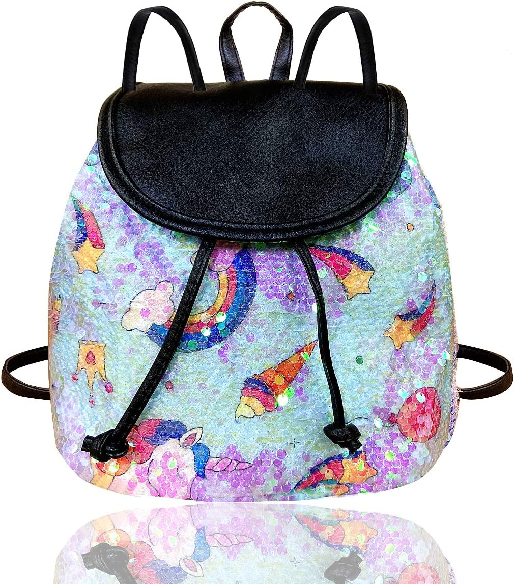 paerma Flip Sequins Small Backpack Colorful Sparkly Mini Lightweight Schoolbag Gifts for Teens Girls