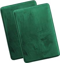 Clara Clark Memory Foam Bath Mat Ultra Soft Non Slip and Absorbent Bathroom Rug, Set of 2 Large, Hunter Green