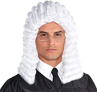 Judge Halloween Wig for Adults, One Size White