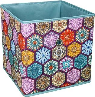 suns Lot de 3 boîtes de rangement pliables avec poignée, pour penderie, vêtements, livres, cosmétiques, jouets (multicolore)