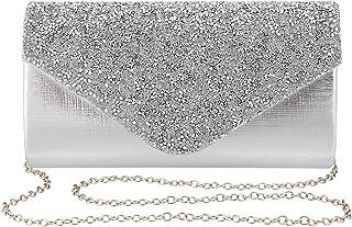 کیسه کیسه های شبانه روزانه خانم گابرین کیسه کیف دستی کیسه کراوات کراوات Rhinestone-Flower برای مهمانی عروسی