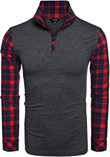 DAZZILYN Men's Long Sleeve Polo Shirt Classic Causal Business Slim Fit Cotton Polo T Shirts