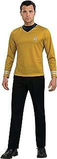 Costume Star Trek Gold Star Fleet Uniform Shirt Costume