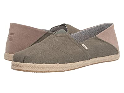 TOMS Alpargata Convertible on Rope (Lichen Green Heritage Canvas on Rope Convertible) Men