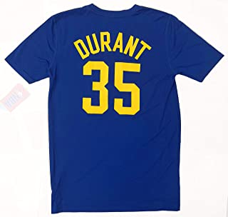 Kevin Durant Golden State Warriors NBA Youth 8-20 Blue Name & Number Performance T-Shirt
