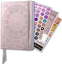 Deluxe Law of Attraction 12 Month Life Planner - B5 Dated September 2019-2021 Planner to Increase Productivity & Happiness - Weekly, Monthly Organizer & Gratitude Journal (Rose Gold) + Stickers