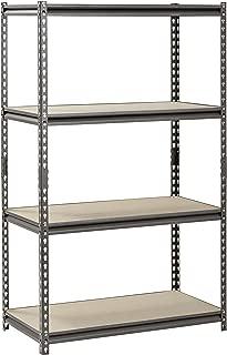 Muscle Rack Silver Vein Steel Storage Rack, 4 Adjustable Shelves, 3200 lb. Capacity, 60