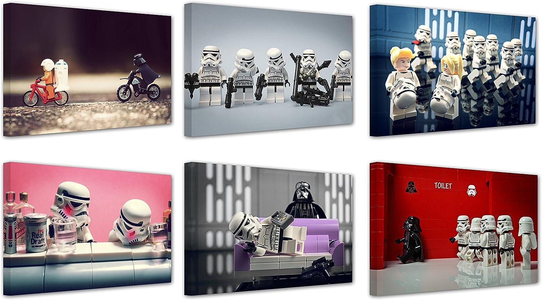 Lego star wars Kunstdruck auf Leinwand, Motiv  , 6-er set, new Rahmen x 30.48 cm x 20.32 cm 0.00 cm jeder B015RTT4PA