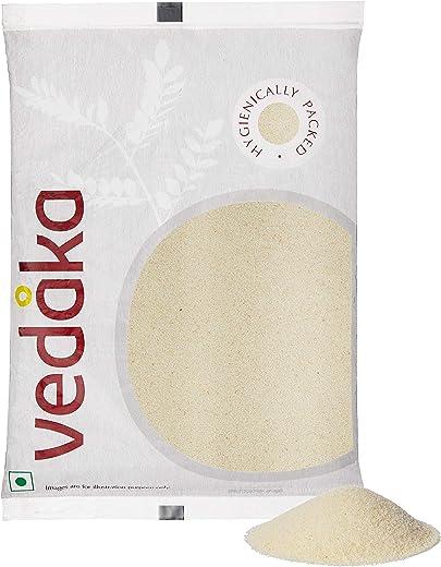 Amazon Brand - Vedaka Roasted Suji (Rawa), 1 kg 1